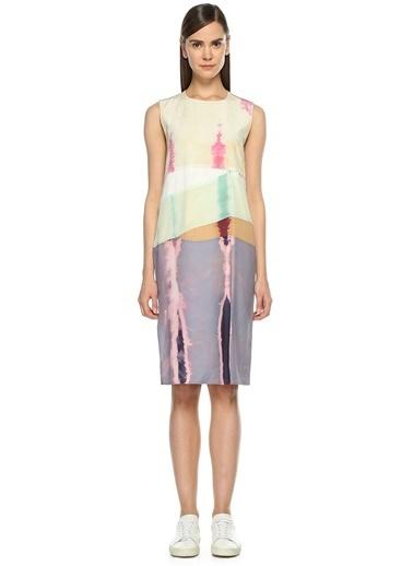 Acne Studios Kolsuz Kısa Elbise Renkli